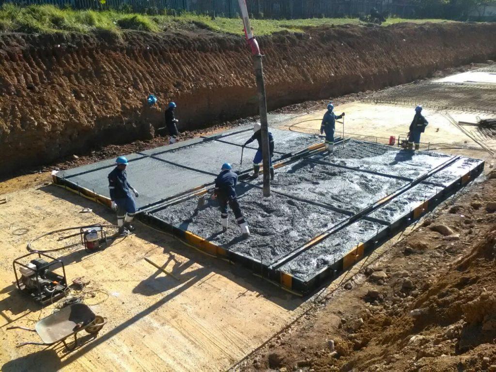 1st Concrete floor